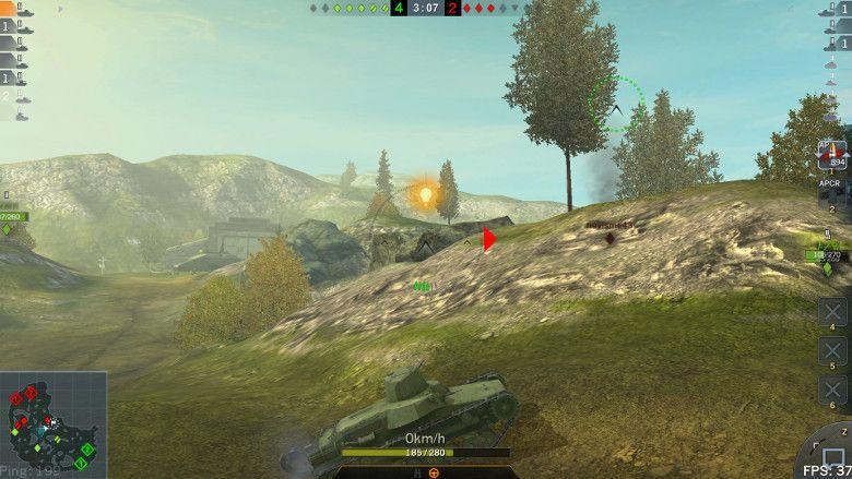 World of Tanks Blitz ロックオン
