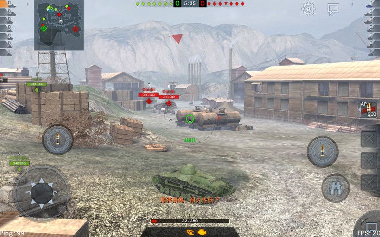 World of Tanks Blitz タッチ操作