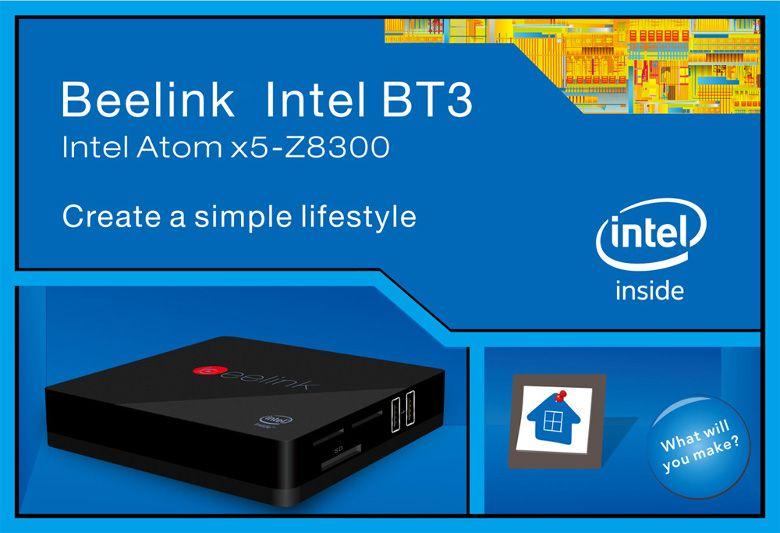 Beelink Intel BT3 TV Box 斜めから