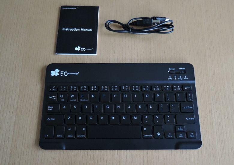 EC Technology Bluetoothキーボード 同梱物