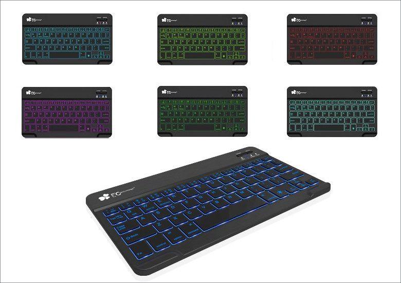 EC Technology Bluetoothキーボード 7色バックライト