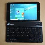 EC Technology Bluetooth 3.0 キーボード - 8インチタブレットにピッタリの極薄軽量キーボード(実機レビュー)