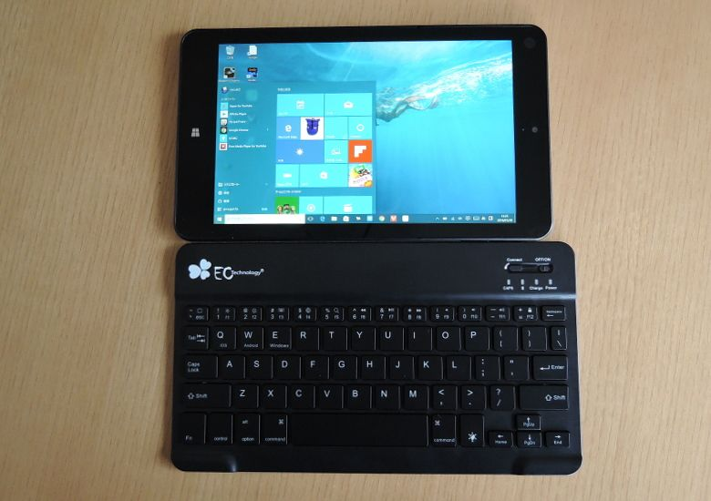 EC Technology Bluetoothキーボード トップ画像