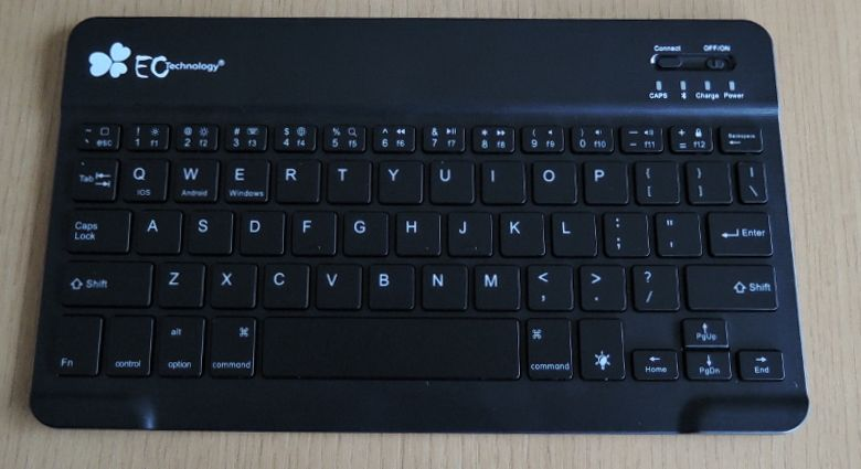 EC Technology Bluetoothキーボード キーマップ
