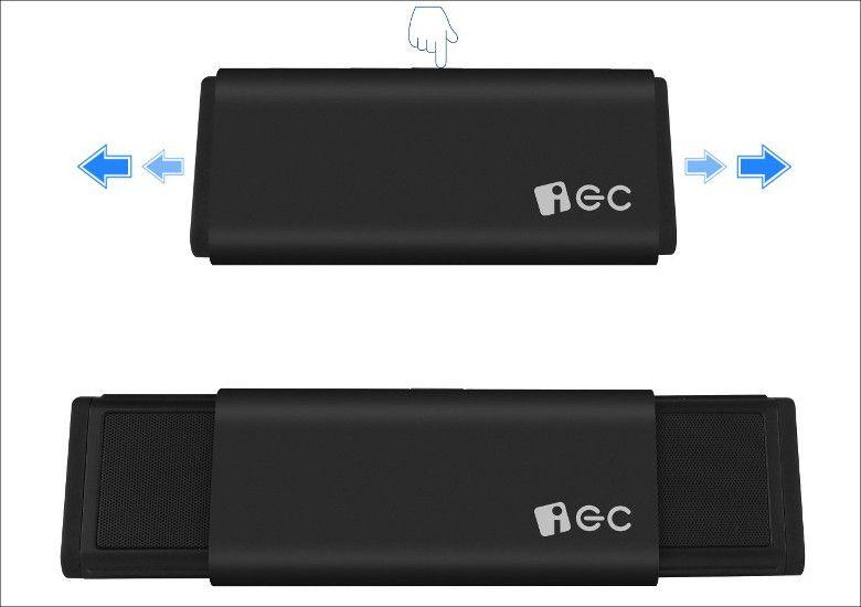 iEC Technology 伸縮型 Bluetoothスピーカー