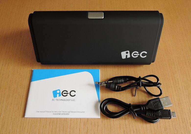 iEC Technology 伸縮式Bluetooth スピーカー 同梱物