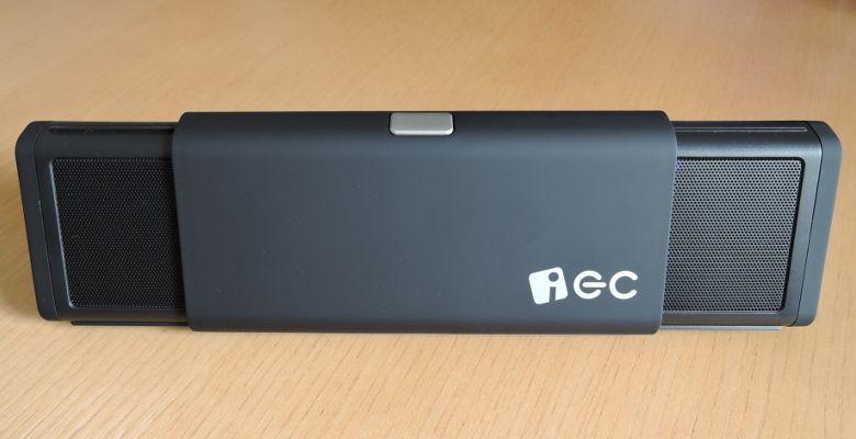 iEC Technology 伸縮式Bluetooth スピーカー 展開時