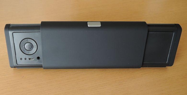 iEC Technology 伸縮式Bluetooth スピーカー 背面コントロール部分