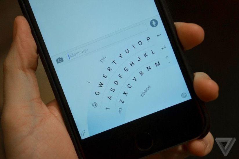 iPhoneのワードフローキーボード