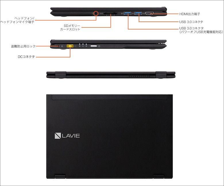 NEC LAVIE Hybrid ZERO クラムシェル 展開図