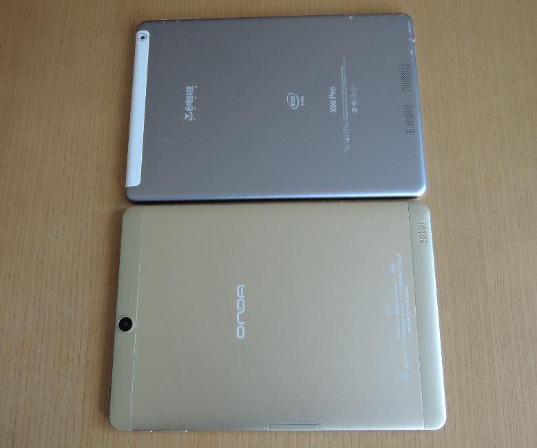 Comparison with ONDA V919 Air CH Teclast