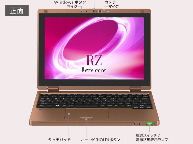 Panasonic Let's Note RZ5 筐体正面
