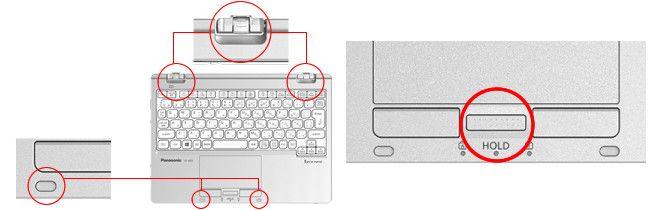 Panasonic Let's Note RZ5 パッドとホールド
