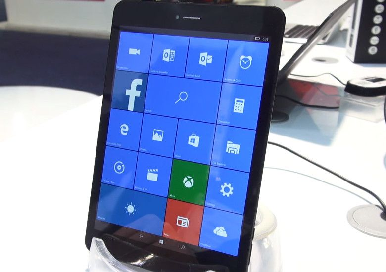 PIPO U8T Windows 10 Mobile ディスプレイ