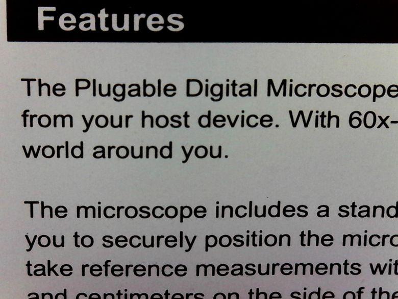 Plugable マイクロスコープ 使用例1