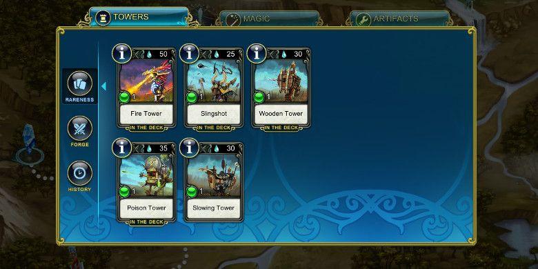 Prime World Defenders タワーのコレクション