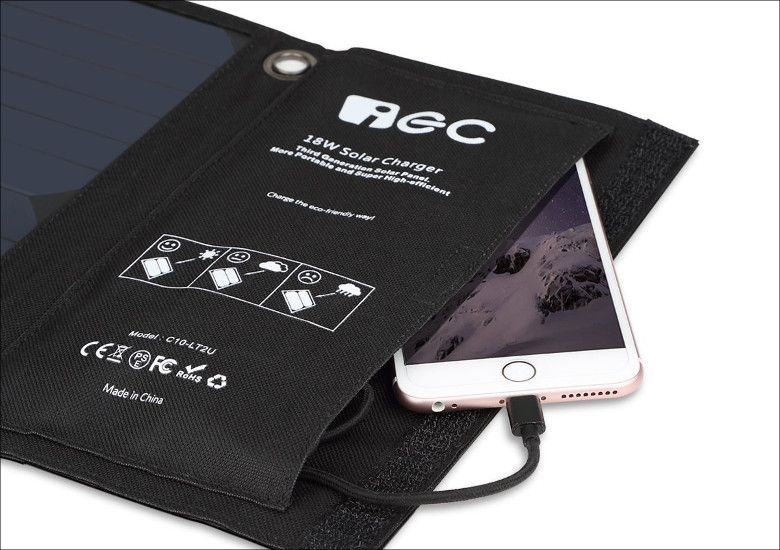 EC Technology USBソーラーチャージャー ポケット