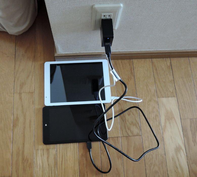 Plugable 2 ポート・スマート・トラベル USB 充電器  タブレットを充電