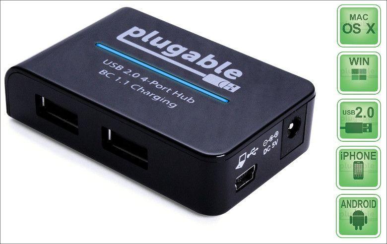 Plugable USB 2.0 4 ポート 急速充電ハブ