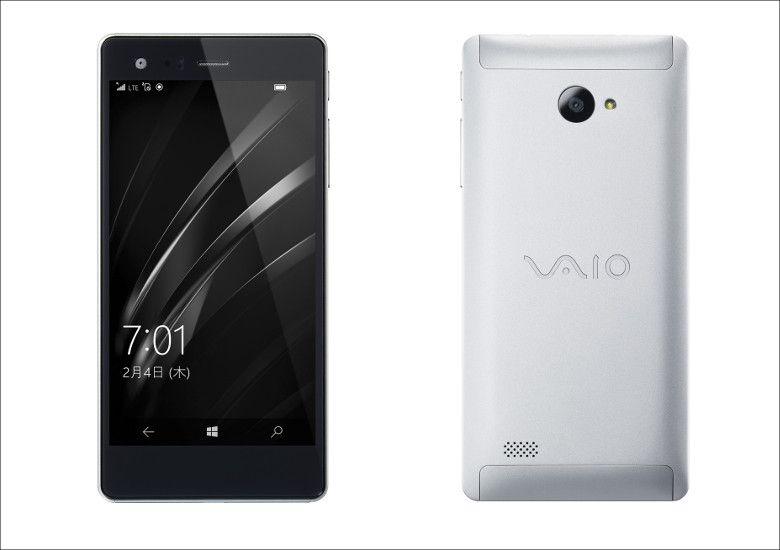 VAIO Phone Biz 筐体前後