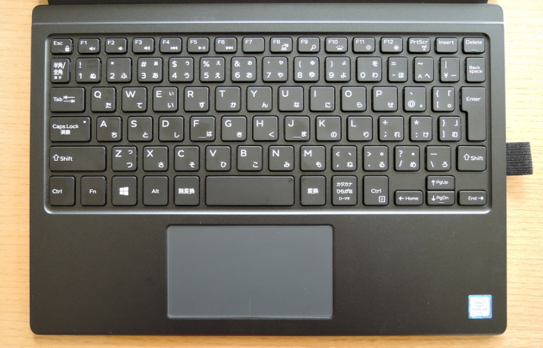 DELL XPS 12 キーボード拡大