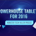 セール情報 - GEARBESTで「POWERHOUSE TABLETS FOR 2016」開催中