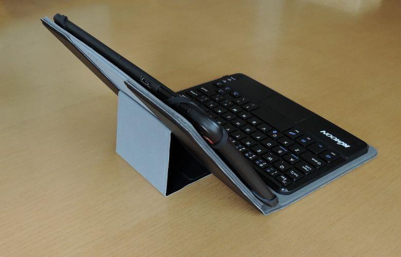 KKmoon Bluetooth キーボード ケース キックスタンド
