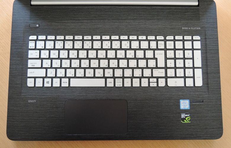 HP ENVY 17-n100 キーボード