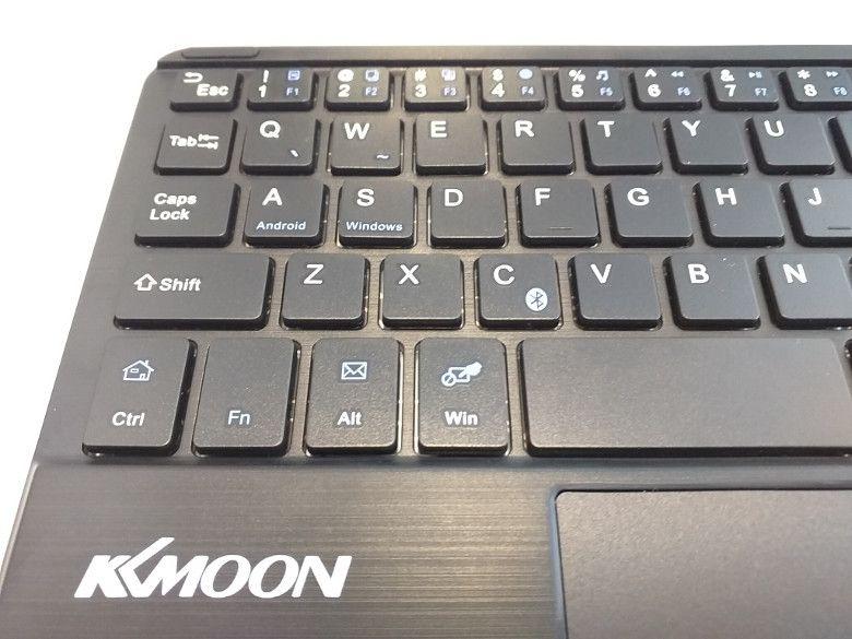 KKmoon 59キー 超薄型Bluetooth キーボード  Tabキーの凹み
