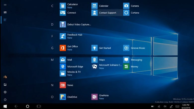 Windows 10 ビルド14328 アプリ一覧
