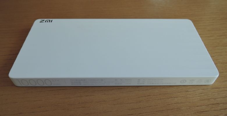ZMI USBモバイルバッテリー  表面