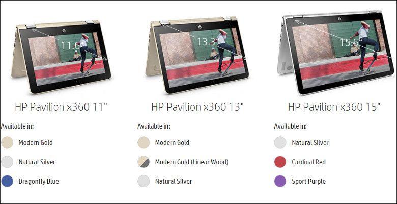 HP Pavilion X360 共通デザイン