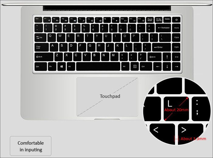 Jumper Ezbook 2 キーボード