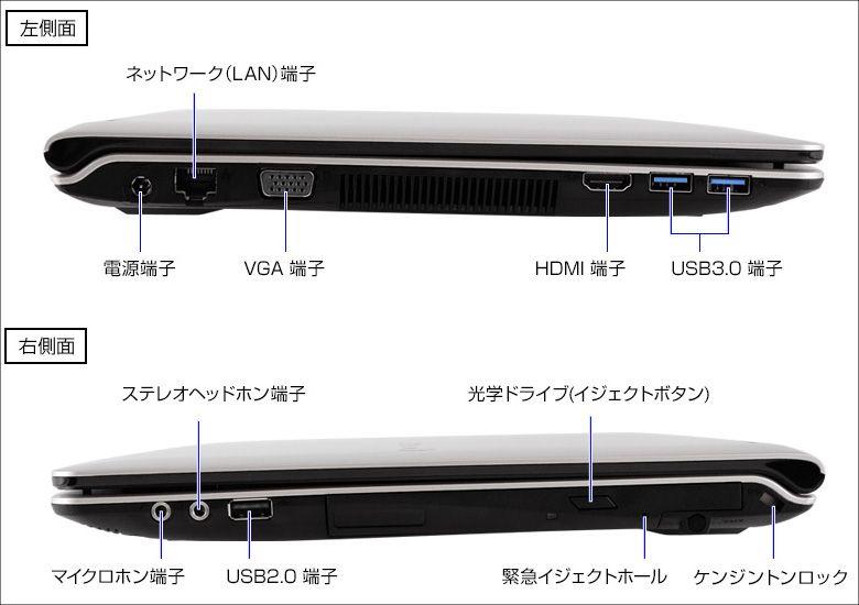 マウス LuvBook B 側面