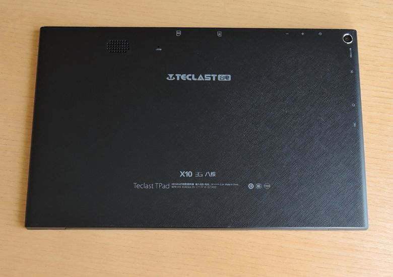 Teclast X10 3G 背面