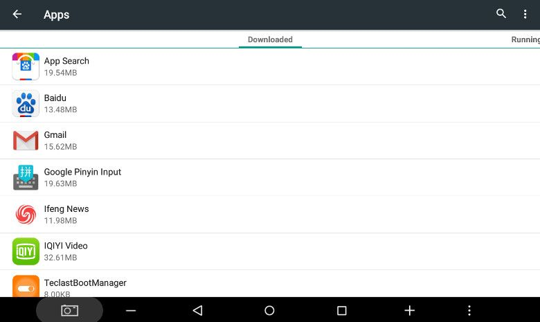 Teclast X10 3G アプリ一覧1