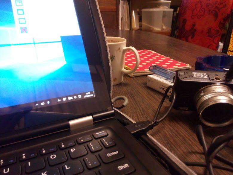 VOYO VBook V1  デジカメ接続