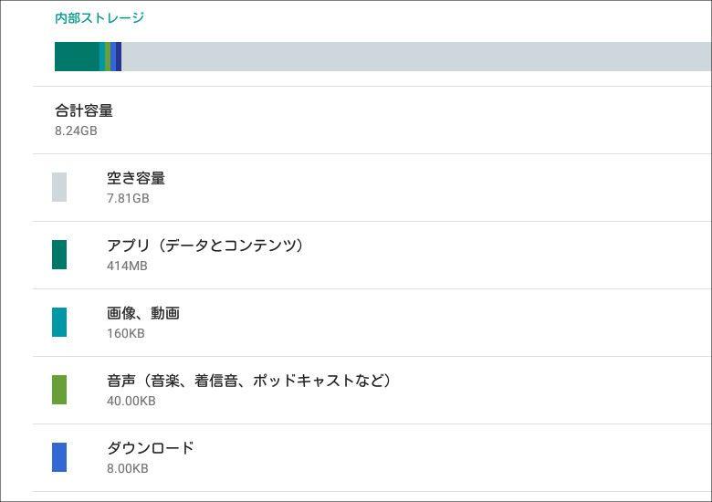 VOYO VBook V1 Android ストレージ