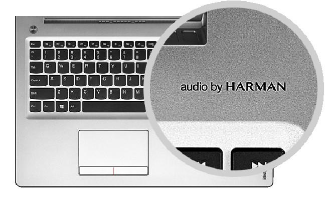 Lenovo ideapad 510 HARMANのオーディオ