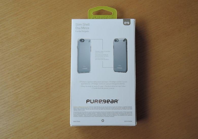 PureGear ハードシェルケース パッケージ背面