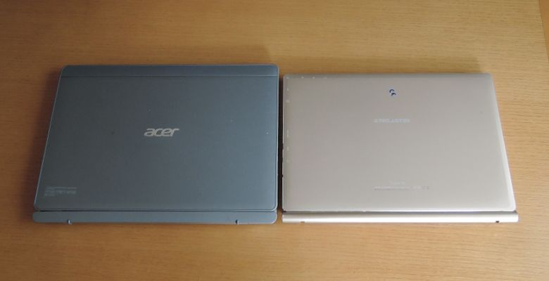 Teclast Tbook 10 acer Aspire Switch 10とのサイズ比較