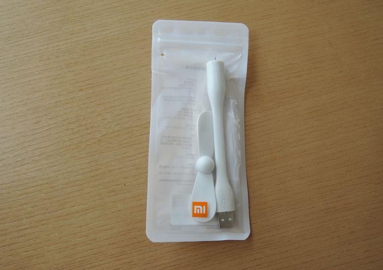 Xiaomi USB ポータブル扇風機パッケージ