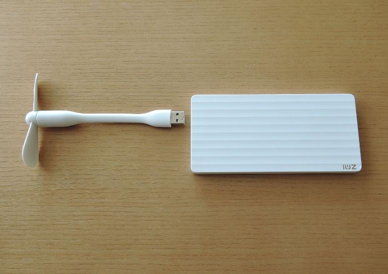 Xiaomi USB ポータブル扇風機 モバイルバッテリーと