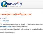 geekbuyingで買い物をしてみました。意外に簡単、いつ届くかお楽しみ!