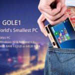 GOLE 1- 5インチディスプレイ搭載のWindows / Androidデュアルブート機がプレセールに!ホント?