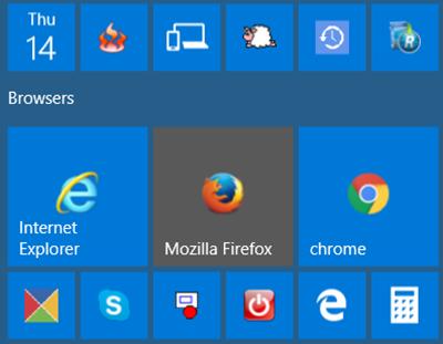 Chromeのアイコンが小さく