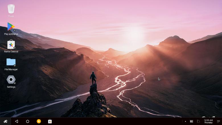 Remix OS 初期画面
