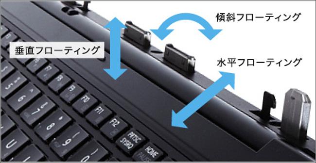 東芝dynabook RX82/T 3Dフローティング構造