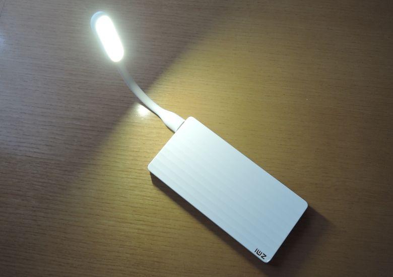 Xiaomi USB LEDポータブルライト 点灯
