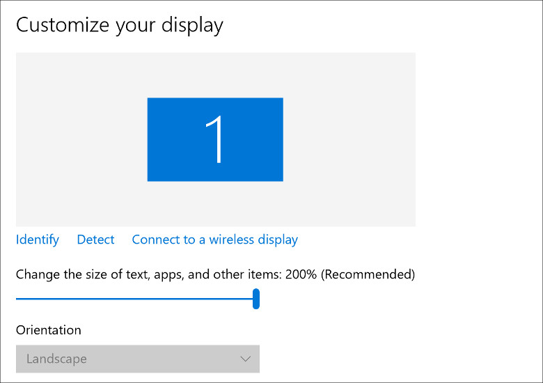 Cube iWork 8 Air ディスプレイの表示倍率
